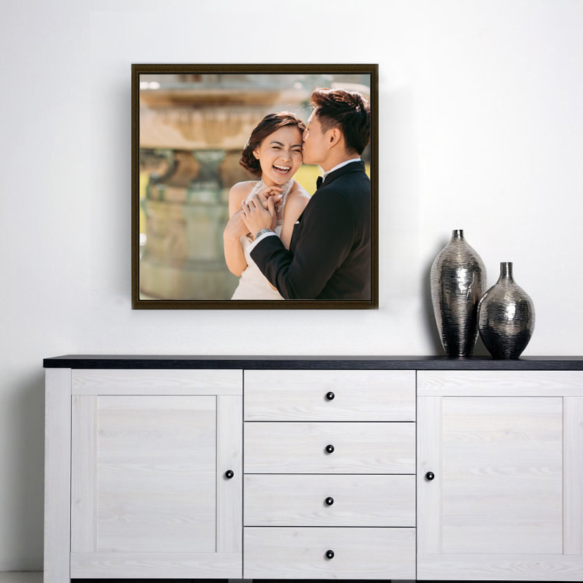 WOODEN FLOAT FRAME CANVAS 24x24