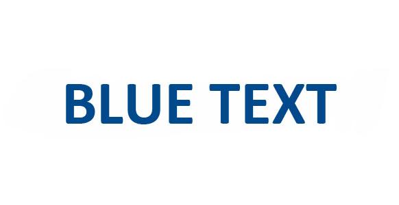 Blue Text