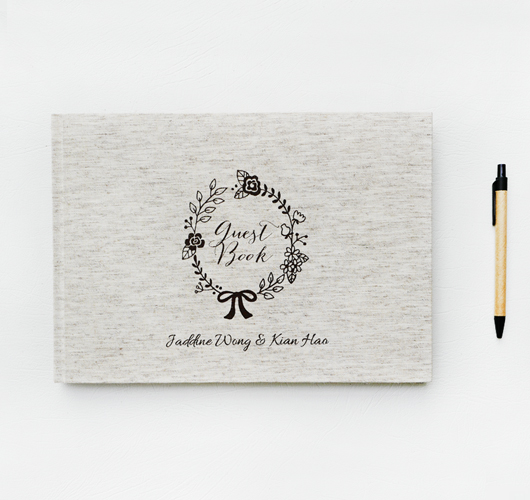 FABRIC HARD COVER GUEST BOOK