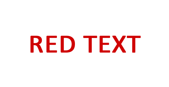 Red Text
