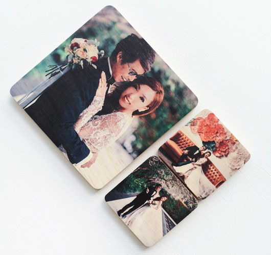 WOODEN PHOTO BLOCK 12x12""
