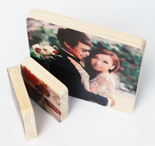 WOODEN PHOTO BLOCK 12x18""