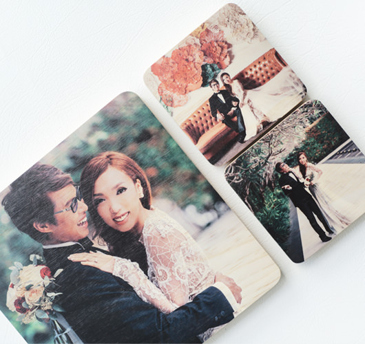 "WOODEN PHOTO BLOCK 4X4"" (4pcs)"