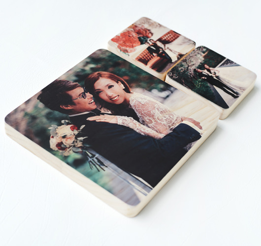 WOODEN PHOTO BLOCK 8x12""