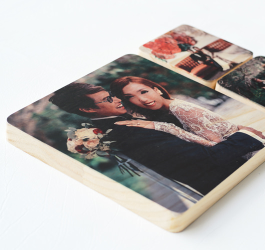 "WOODEN PHOTO BLOCK 8x8"" (4pcs)"